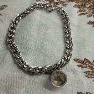 Sterling Silver Bracelet with a compass